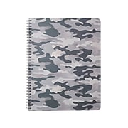"""Eccolo Subject Notebook, 8.5"""" x 11"""", College-Ruled, 80 Sheets, Assorted Camo Designs (ST820F)"""