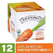 RWK Carrot Black Pepper Turmeric Shots, No Sugar Added, 2.5 oz., 12 Bottles/Pack (307-00335)