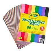 """Crayola 12"""" x 9"""" Construction Paper, Assorted Colors, 96 Sheets/Pack (993000)"""