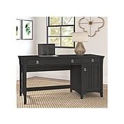 "Bush Furniture Salinas 60"" Computer Desk with Storage and Keyboard Tray, Vintage Black (SAD360VB-03)"