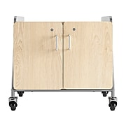 """Safco Whiffle Typical 13 27"""" x 30"""" Particle Board Double-Column Mobile Storage, Gray (3933GRY)"""