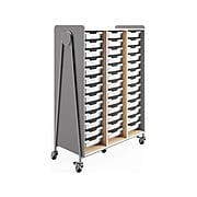 """Safco Whiffle Typical 12 60"""" x 43"""" Particle Board Triple-Column Mobile Storage, Gray (3932GRY)"""
