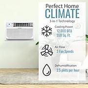 Keystone Energy Star 12,000 BTU 230V Through-the-Wall Air Conditioner with Follow Me LCD Remote Control