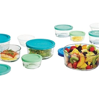 Anchor Hocking® 20 Piece Food Storage Set, Blue/Green (12027AH)