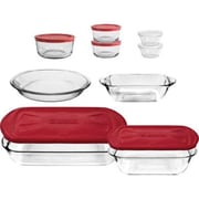 Anchor Hocking 16 Piece Bake and Store Set, Red (12249) by