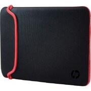 """HP® V5C30AA Neoprene Sleeve for 15.6"""" Notebook, Black/Red"""