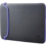 "HP® V5C32AA Neoprene Sleeve for 15.6"" Notebook, Gray/Purple"