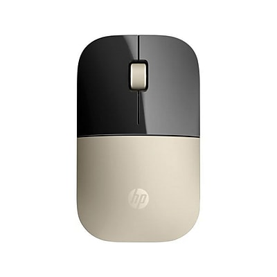 HP® Z3700 USB Wireless Blue LED Mouse, Gold (HPX7Q43AA)