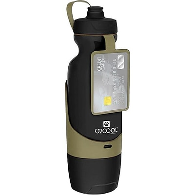 O2Cool® Sip N Share 32 oz. Water Bottle, Khaki (PHB0032KHA)