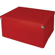 Samsill® Pop n' Store Mega Decorative Storage Box with Lid, Red (PNS06LSRD)