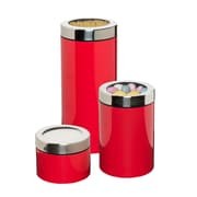 Honey Can Do Set of 3 Retro Canisters Red (KCH-07672)