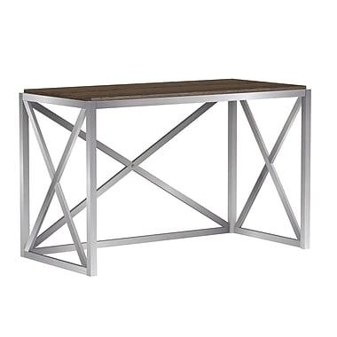 Bell'O Montevallo Desk Open Design X Frame, Soft Brown (OD20454-PW15)