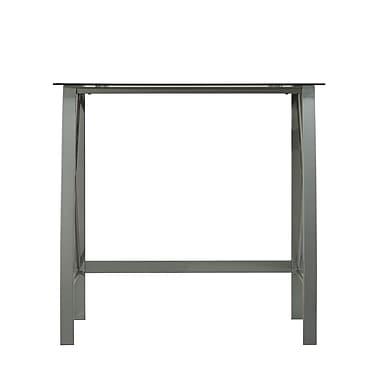 Bell'O Computer Desk Powder Coated Steel Frame, Silver (OD29102-32-SLV)