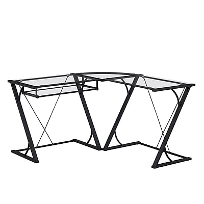 ... L Shaped Computer Desk With Keyboard Tray, Black (ODL792.  Https://www.staples 3p.com/s7/is/