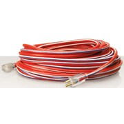 Coleman Cable 100-Feet Contractor Grade 12/3 with Lighted End American Made Extension Cord, Red (02549USA1)