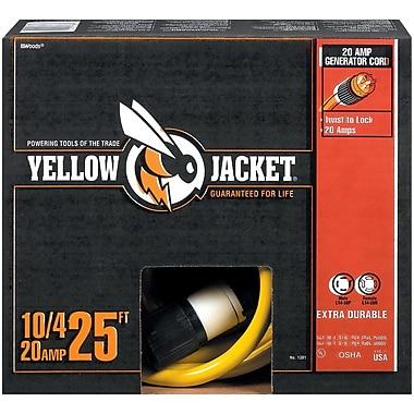 Yellow Jacket 25-Feet 10/4 Heavy-Duty STW 20-Amp/250-Volt Generator Power Cord, Yellow (1381)