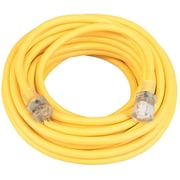 Coleman Cable 50-Foot 12/3 Contractor Extension Cord with Lighted End, Yellow (01698)