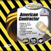 Coleman Cable 50 Foot 10/3 Contractor Extension Cord with Lighted End, Yellow (01798) by