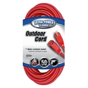 Coleman Cable 50-Foot 14/3 SJTW Vinyl Outdoor Extension Cord, Red (02408)