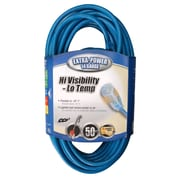 Coleman Cable 50-Feet 14/3 SJTW Low-Temp Outdoor Extension Cord with Lighted End, Blue (02468)