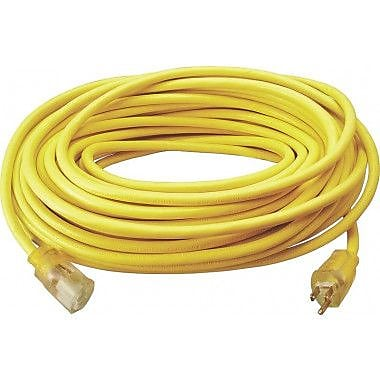 Coleman Cable 12/3 Cord Yellow with Light Ends (25890002)