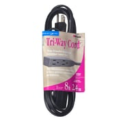 Woods  8-Foot 16/3 Household Cube Tap Extension Cord, Black (2611)