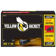 Yellow Jacket 100-Feet 12/3 Heavy-Duty 15-Amp SJTW Contractor Extension Cord, Locking, Yellow (2738)