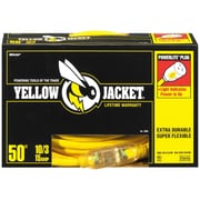 Yellow Jacket 50-Feet 10/3 Heavy-Duty 15-Amp SJTW Contractor Extension Cord with Lighted End, Yellow (2805)