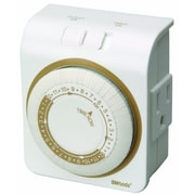 Woods Indoor Grounded Plug 24-Hour Heavy Duty Mechanical Outlet Timer (50001)