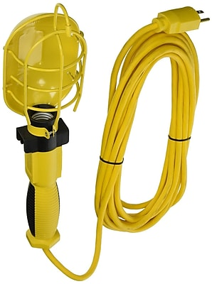 American Contractor 25-Feet 16/3 Coiled Extension Cord Trouble Light, Yellow (5897)