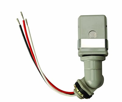 Woods Outdoor Hardwire Conduit Light Control with Photocell Swivel Base (59411)