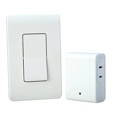 Woods Wireless Wall Switch Remote for Indoor Light Control, White (59773)