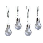 Moonrays Solar Powered LED Vintage Bulb String Lights, Clear (91137)