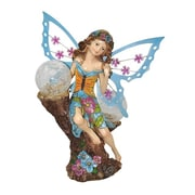 "Moonrays ""Hannah"" Garden Pixie Statue with Solar Powered Color-Changing LED (91541)"