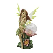 "Moonrays ""Naomi"" Garden Pixie Statue with Solar Powered Color-Changing LED (91543)"