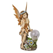 "Moonrays ""Ami"" Garden Pixie Statue with Solar Powered Color-Changing LED (91549)"