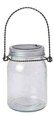 Moonrays Solar Powered White LED Decorative Jar Light, 6-Tray (91588)