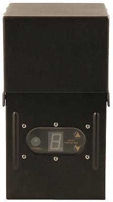 Moonrays 300-Watt Control Box for Outdoor Low Voltage Lighting with Light-Sensor and Metal Raintight Case, Black Finish (95433)