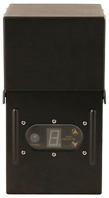 Moonrays 300-Watt Control Box for Outdoor Low Voltage Lighting with Remote Light-Sensor, Black Finish (95434)