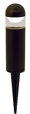 Moonrays Bollard-Style Low Voltage 1-Watt 12-Volt LED Metal Path Light, Black Finish (95555)