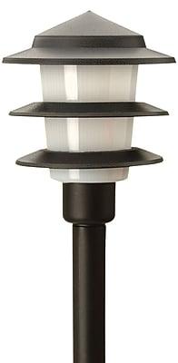 Moonrays Low Voltage 1-Watt 12-Volt LED 3-Tier Path Light, Black Finish (95556)