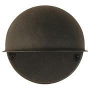 Moonrays Low Voltage 7-Watt 12-Volt Metal Flush Mount Circular Surface Light, Black Finish (95732)