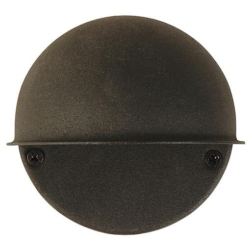 Moonrays Low Voltage 7 Watt 12 Volt Metal Flush Mount Circular Surface Light Black Finish 95732