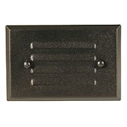 Moonrays Low Voltage 10-Watt 12-Volt Recessed Rectangle Metal Deck Light, Black Finish (95757)