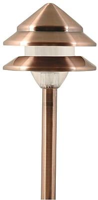 Moonrays Marion-Style Low Voltage 7-Watt 12-Volt 2-Tier Metal Path Light, Antique Copper Finish (95871)