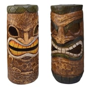 Moonrays Solar Powered White LED Tiki Heads - Styles May Vary (95964)