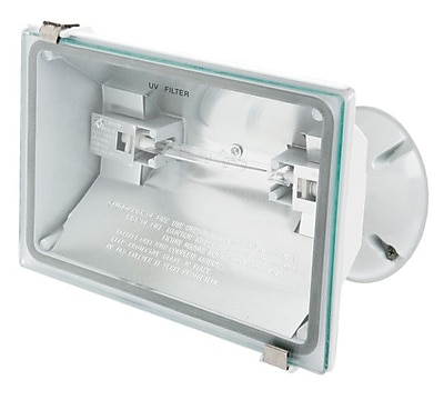 Designer's Edge 500-Watt Halogen Floodlight, White (L-50WH)