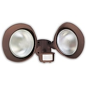Designer's Edge 150-Watt 180-Degree Twin Head Motion Activated Security Flood Light with Bulb Shields, Bronze (L6002BR)