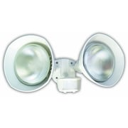 Designer's Edge 150-Watt 180-Degree Twin Head Motion Activated Security Flood Light with Bulb Shields, White (L6002WH)