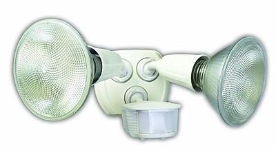 Designer's Edge 240-watt 180-Degree Diecast Metal Twin Head Motion Activated Security Flood Light, White (L6003WH)